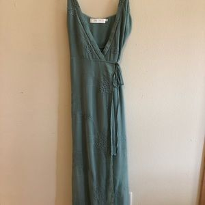 Astr the Label Green Wrap Dress